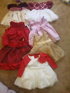 Baby Girl Dresses. 6-12 and 12 Months