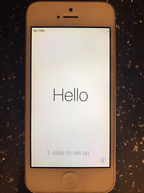 Iphone 5 unlocked 16 GB White