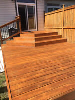 Professional Deck Staining and Cleaning. Free Estimate