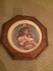 Ramona & Rachel collector plate in frame