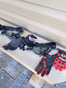 TWO sets of  Kids ATV  gloves & goggles!