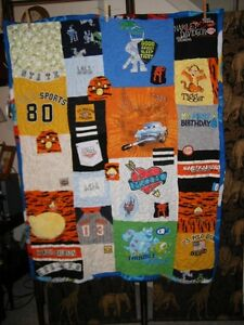 """Custom Made - """"Memory Quilts"""" ~ Made by my Sister Jan Stratford Kitchener Area image 5"""