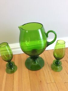 Glassware set Green