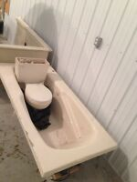 Jucuzzi tub, shower and toilet for sale.