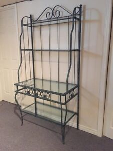 Bakers Rack and matching coffee table (Pair)