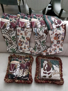 Xmas Stockings with Matching Cushions!
