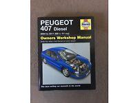 Haynes manual book Peugeot 407 diesel