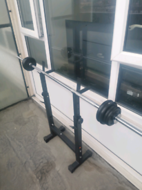 6ft Barbell And Dip Stand