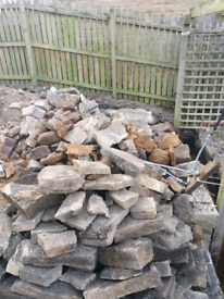 Stone for rockery or dry Stone wall