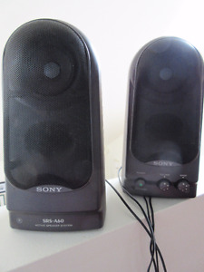 Pair of Sony SRS A60 Computer speakers - in great shape.