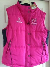Ulster Rugby Ladies pink Gilet -New with tags