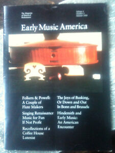 EARLY MUSIC AMERICA, the Magazine for Historical performance