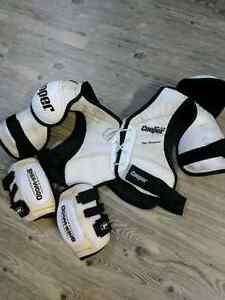 Old school shoulder and elbow pads