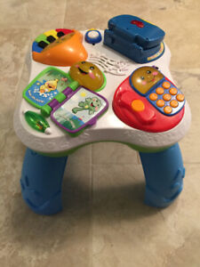 Fisher Price laugh and learn table. Baby to toddler.
