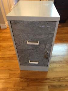 Two Drawer Metal Filing Cabinet