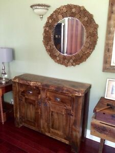 Live edge barnboard reclaimed rustic tables cabinets doors
