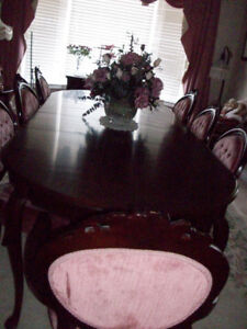 Dining Room Gibbard Table Hutch Buffet 8 Victorian Chair Set
