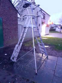 Nf tubesca z500 telescopic ladder with platform