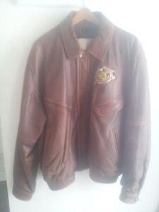 Size 46 Leather Jacket HOG logo