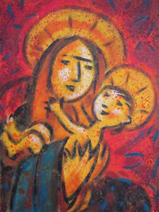 Sami Suomalainen Original Painting Jesus and Mary Canada Finland
