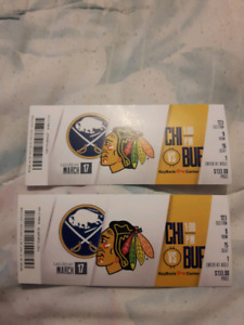 2 sabres and hawks tickets
