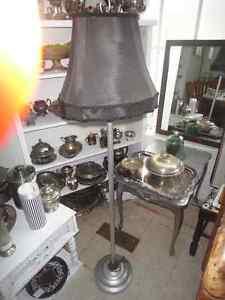 Black & Aluminum Floor Lamp w\ switch d255