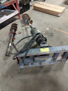 """Auger for bobcat, case and others 12"""" and 9"""" bit included"""