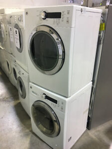 """24"""" WHITE STACKABLE FRONT LOADERS WASHER&DRYERS $1399"""