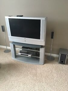 42 inch Sony LCD TV, stand, Sony Dreamsystem 6 speaker DVD