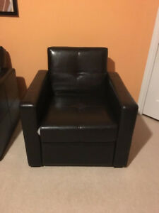Slightly used 3 seater + couch (black)