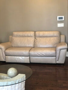 LEATHER COUCH SET FOR SALE-CINDY CRAWFORD!!(Sofa,loveseat,chair)