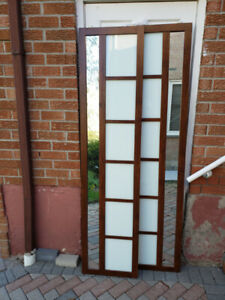 Sliding door two panel top Roll System