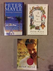 PETER MAYLE and assorted books for sale