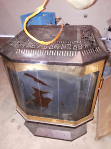 Oil stove fireplace