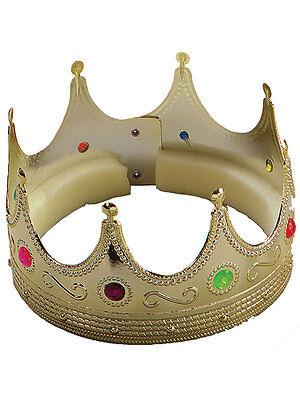 Kings Crown Kostüme (Christmas Hat Prince Golden Gold Crown Wise King Fancy Dress Nativity Mens Boys)