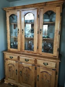 Maple or Birch China Cabinet