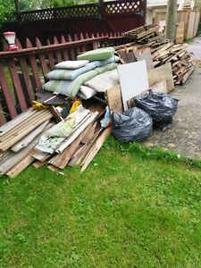 free wood from garden shed