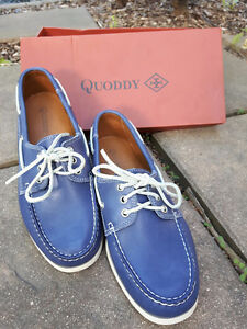 New Quoddy Blue boat shoes size 9