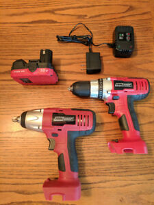 cordless impact wrench and drill