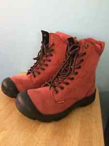 Pink Steeltoe leather working boots West Island Greater Montréal image 2