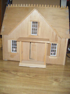 Hand Crafted Wood Doll House for sale   .