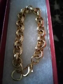 12mm luxury heavy belcher bracelet. Better than plated gold filled