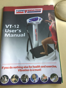 T Vibe exercise machine in perfect working condition