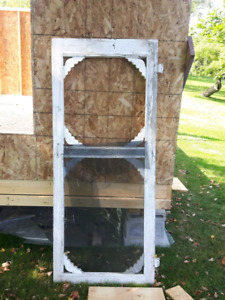Old screen and glass panel doors
