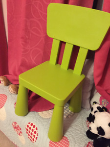 IKEA Mammut Kids Table and chair set green