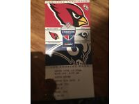 NFL Cards vs Rams Twickenham