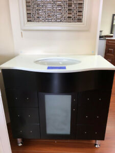 """S-A-L-E 36"""" Modern style Vanity Set and Solid Wood cabinet!!!"""