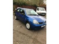 2008 Renault Clio 1.2 ( 60bhp ) Campus+low insurance+new m.o.t