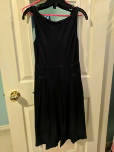 Le Chateau Navy Blue Formal Dress with Hidden Pockets