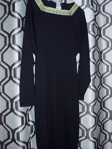 New Black Mini Dress (Cotton knit) in Size 12 for sale